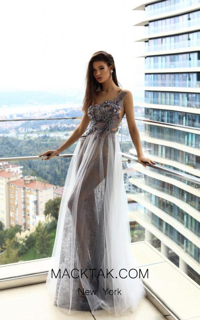 Pollardi Nihal 09011 Sharskin Front Evening Dress