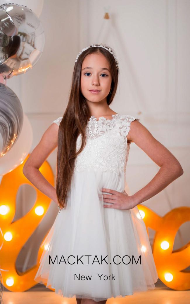 Pollardi 1001 Ivory Front Dress