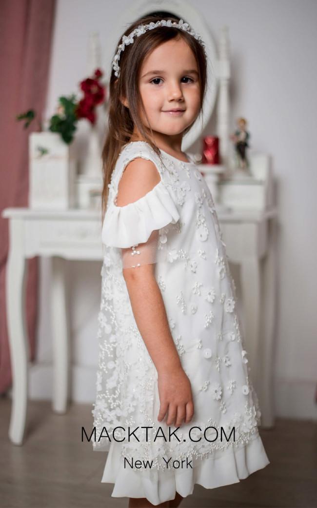 Pollardi 1005 Ivory Front Dress