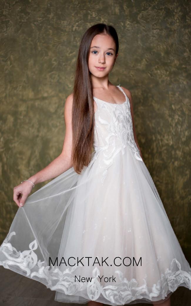 Pollardi 1007 Ivory Front Dress
