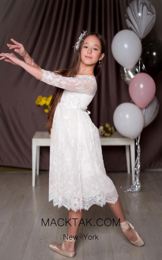 Pollardi 1008 Ivory Front Dress