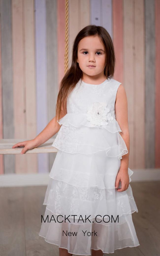 Pollardi 1013 Ivory Front Dress