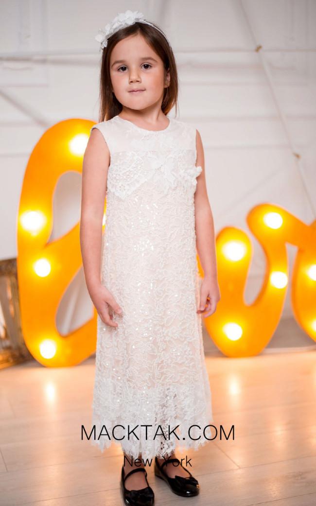 Pollardi 1015 Ivory Front Dress