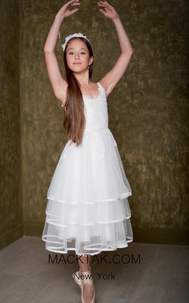 Pollardi 1017 Ivory Front Dress