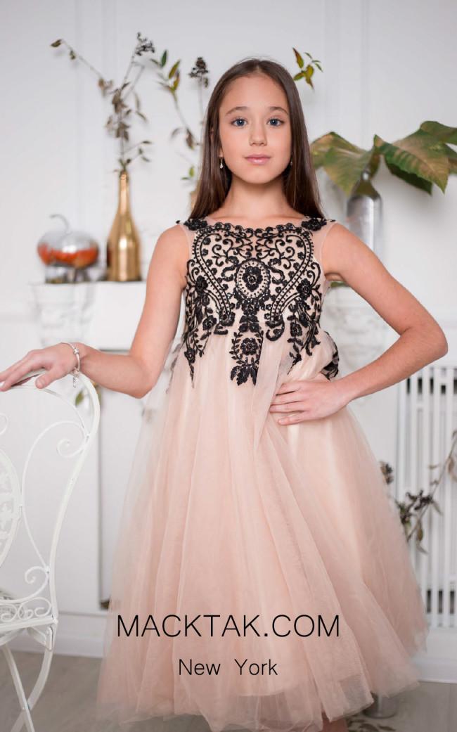 Pollardi 1020 Coffee Front Dress