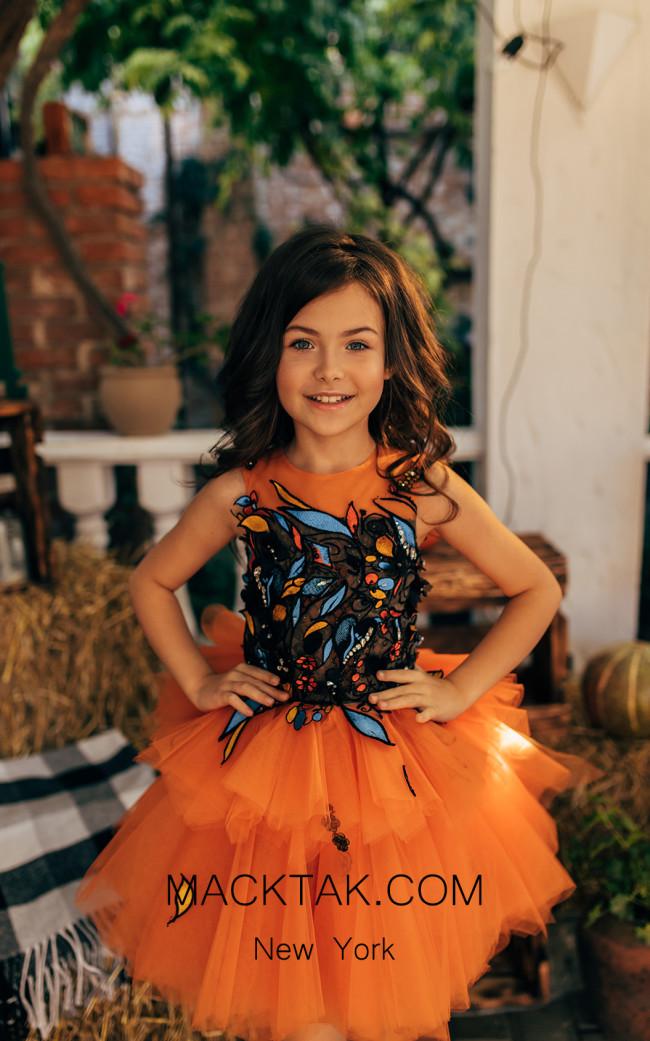 Pollardi 2035 Orange Front Dress