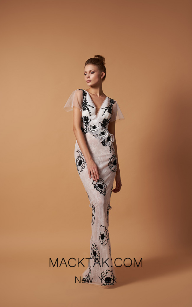 Pollardi 5094 Ivory Front Dress