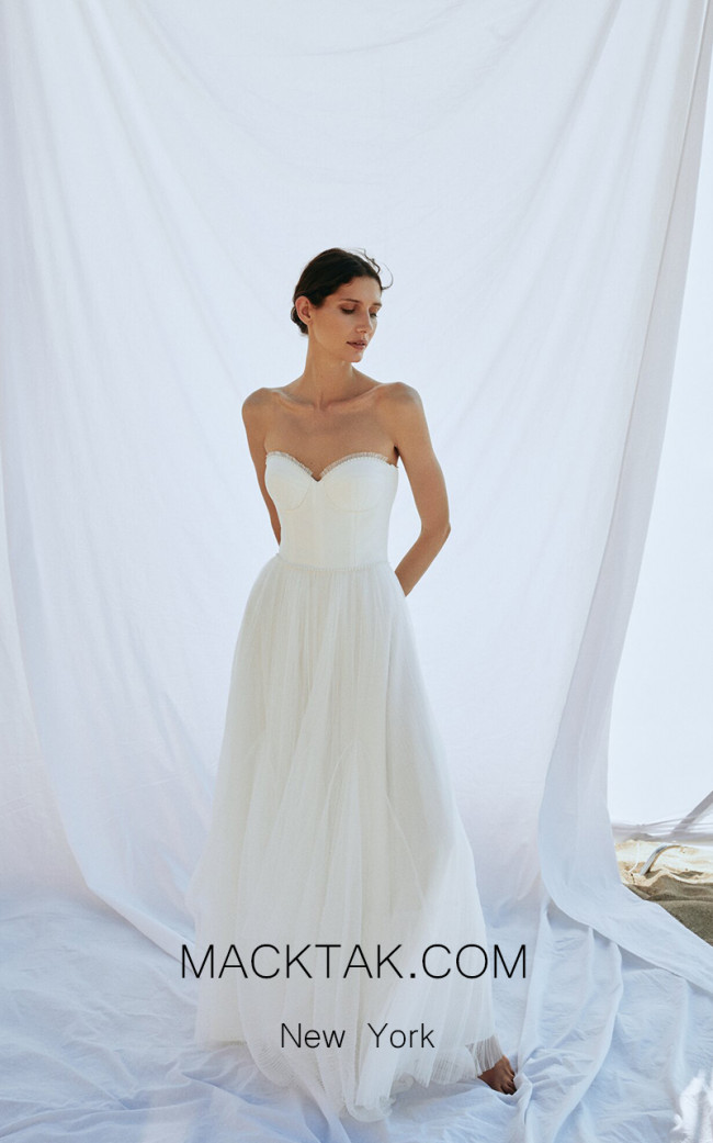 Pollardi Scallop Front Dress
