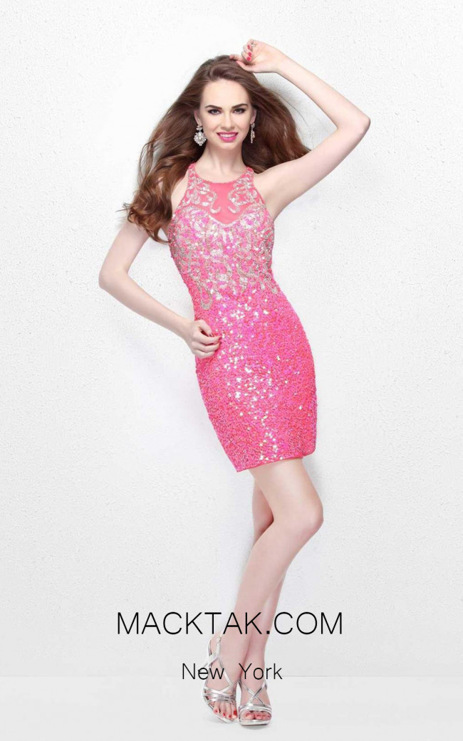 Primavera Couture 1648 Hot Pink Front Dress