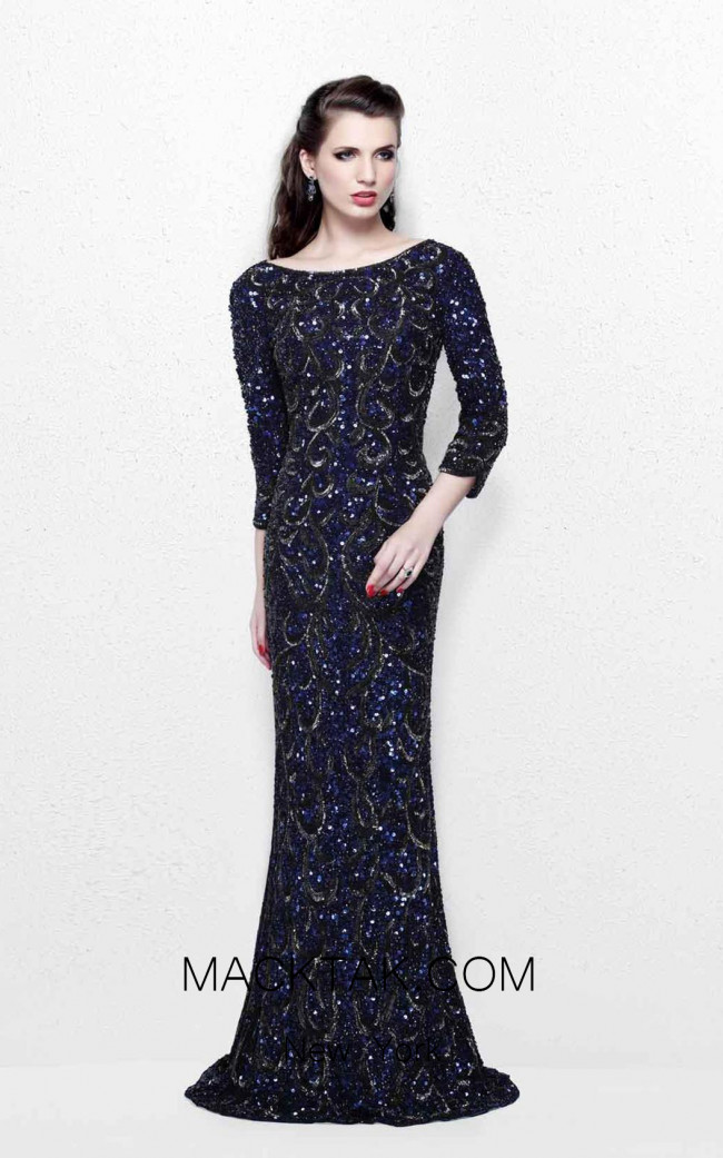 Primavera Couture 1747 Midnight Front  Dress