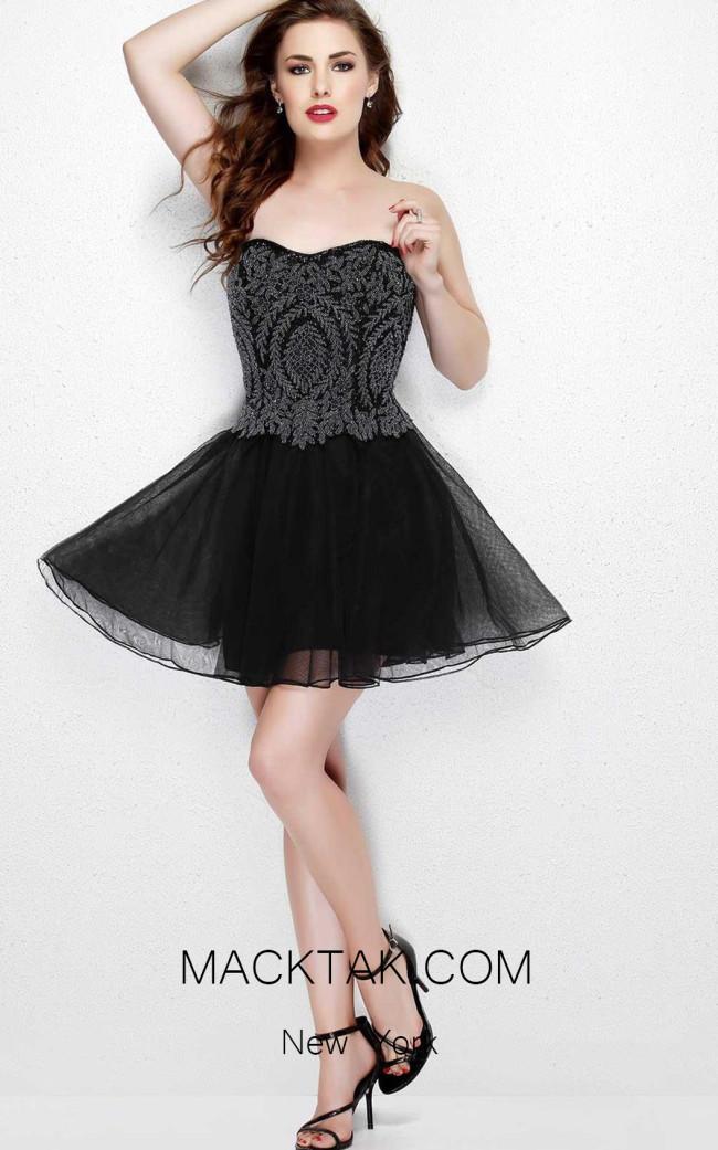 Primavera Couture 1924 Black Front Dress