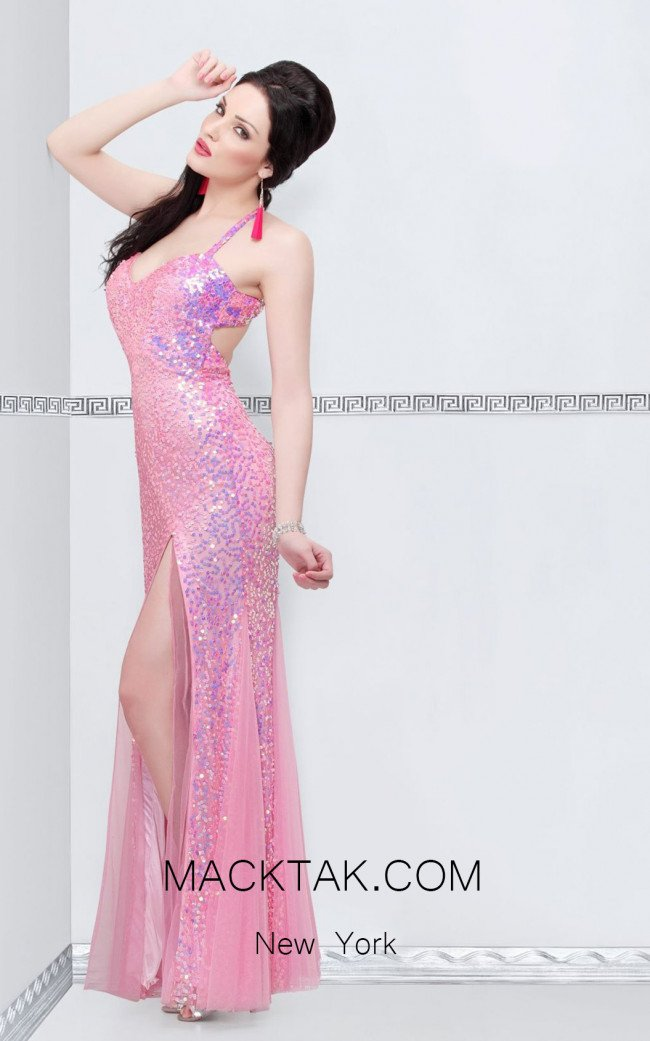 Primavera Couture 9873 Pink Front Dress