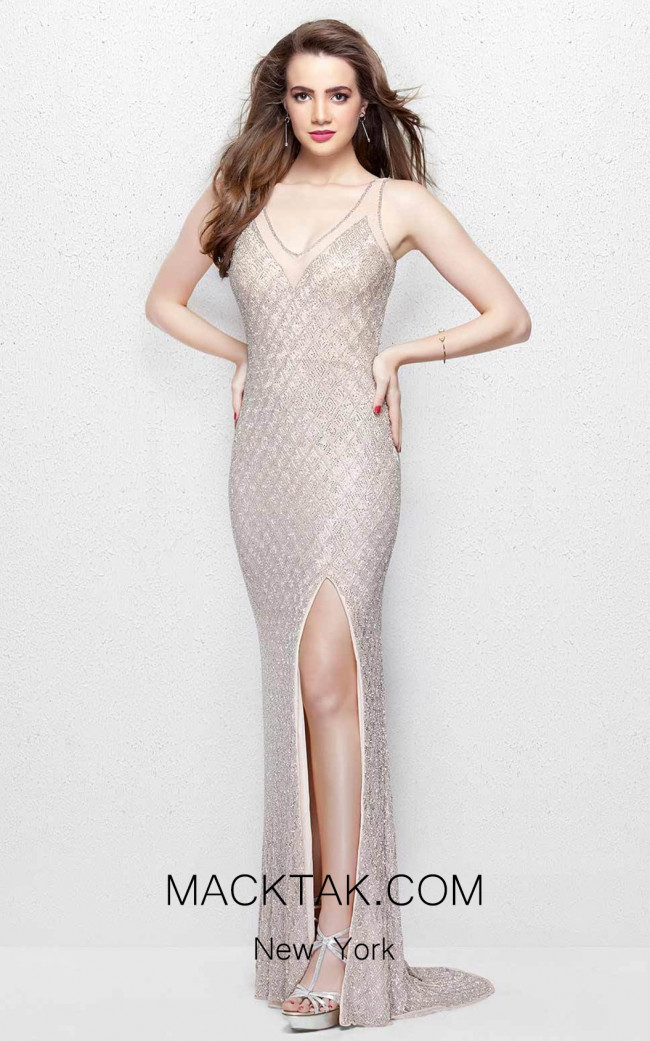Primavera Couture 3017 Blush Front Dress