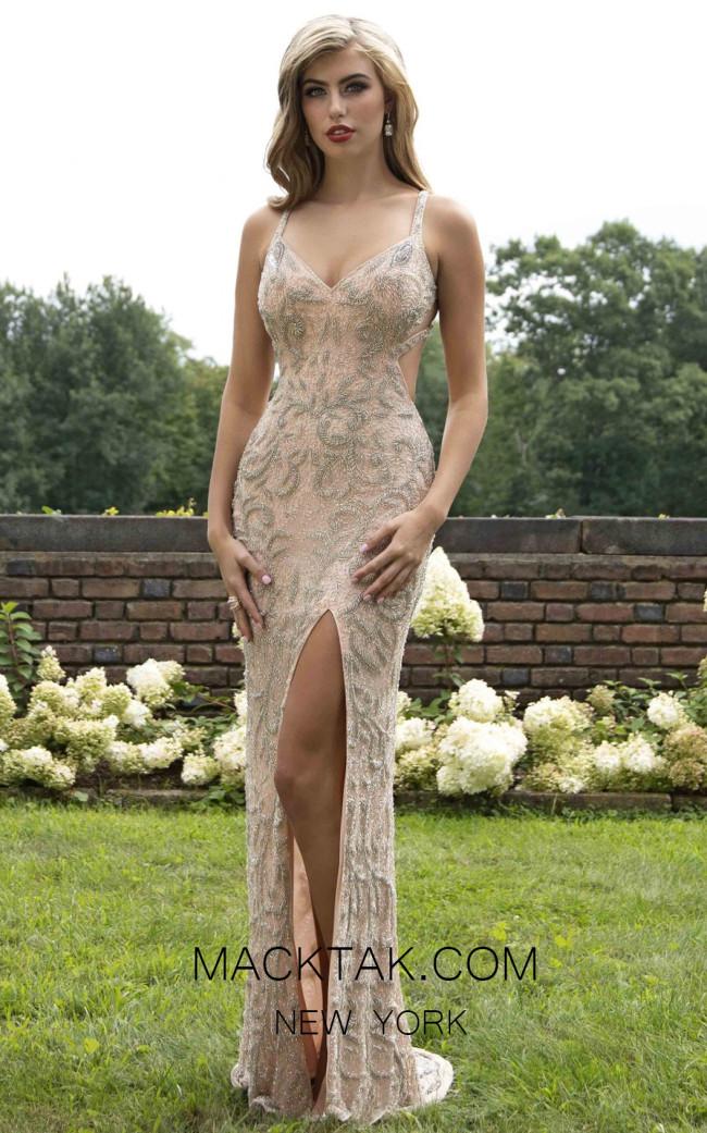 Primavera Couture 3204 Front Blush Silver Dress