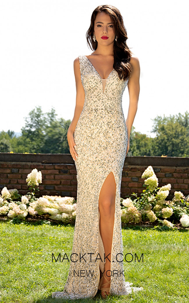 Primavera Couture 3205 Front Ivory Dress