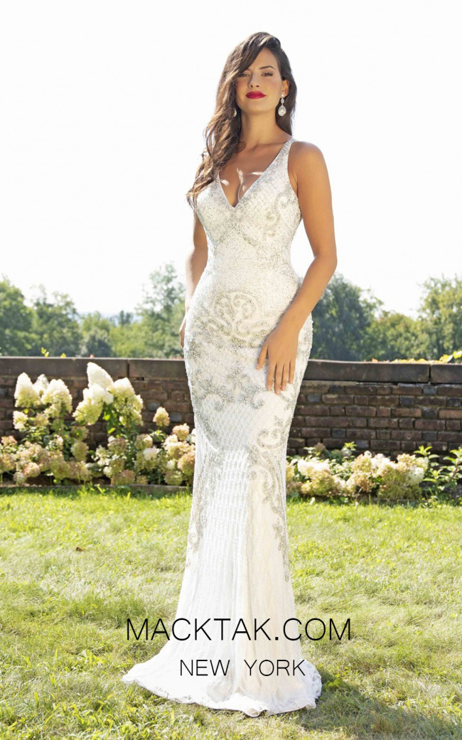 Primavera Couture 3206 Front Ivory Dress