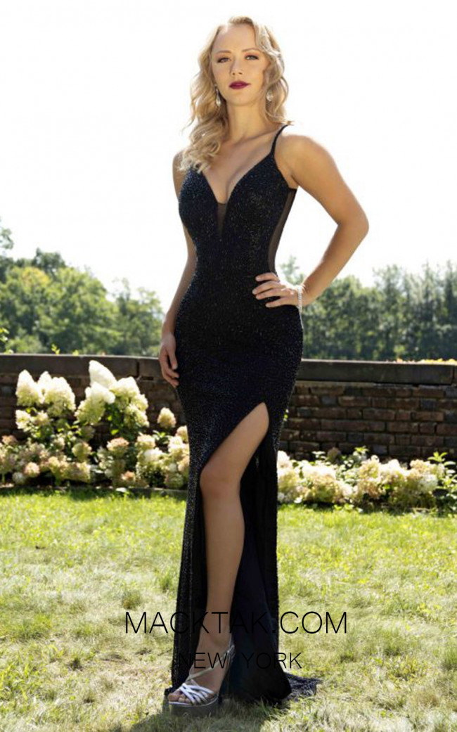 Primavera Couture 3207 Front Black Dress