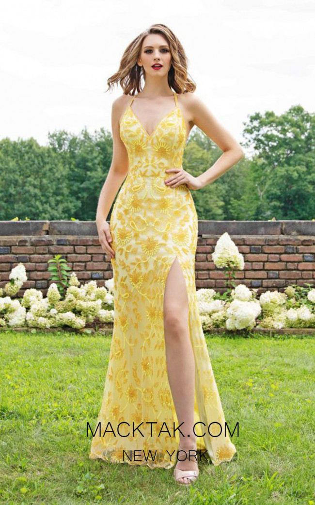 Primavera Couture 3259 Front Yellow Dress