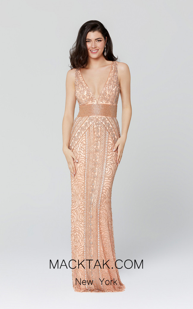 Primavera Couture 3402 Rose gold Front Dress