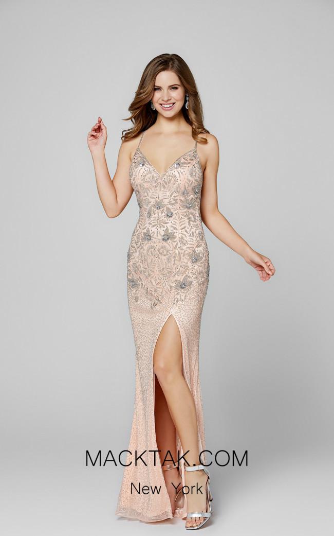 Primavera Couture 3404 Blush Front Dress
