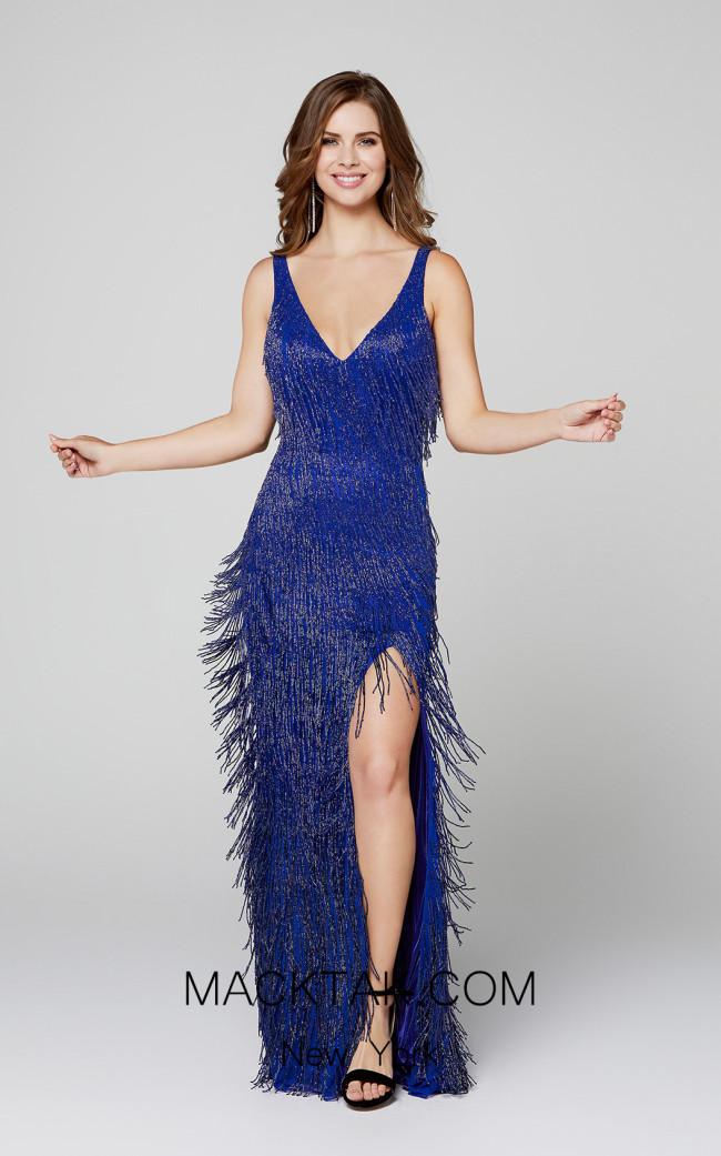Primavera Couture 3407 Blue Front Dress