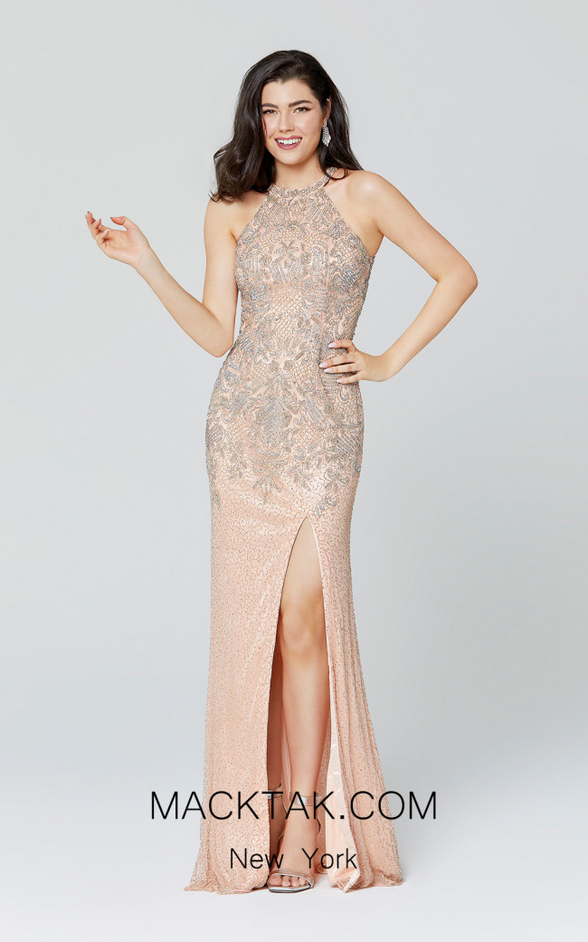 Primavera Couture 3409 Blush Front Dress