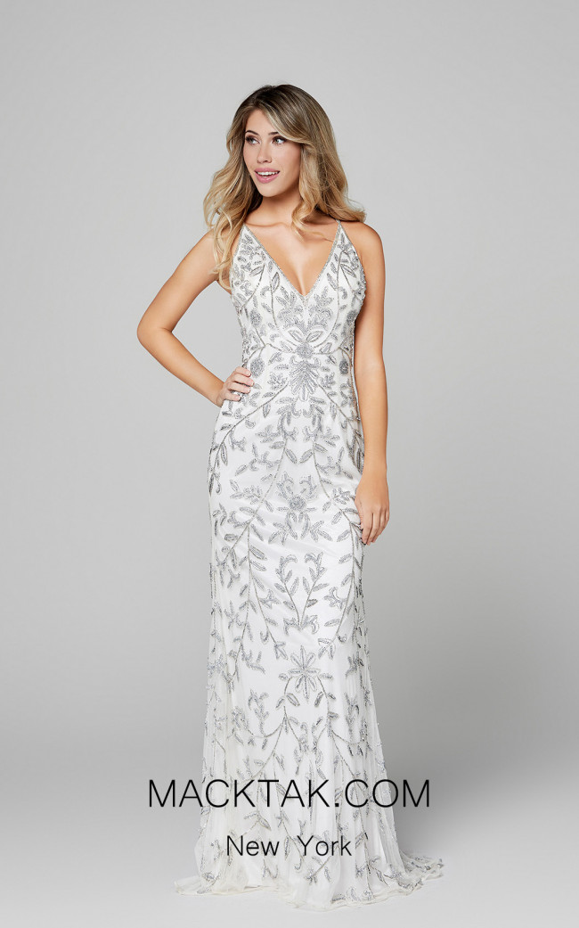 Primavera Couture 3414 Ivory Front Dress