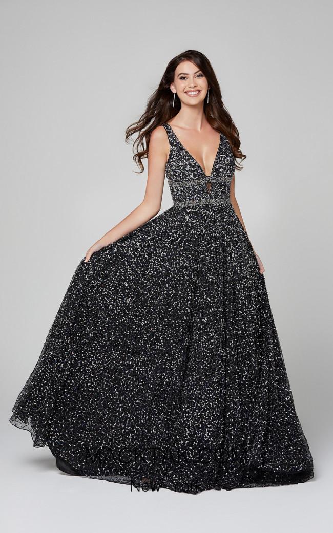 Primavera Couture 3421 Black Front Dress
