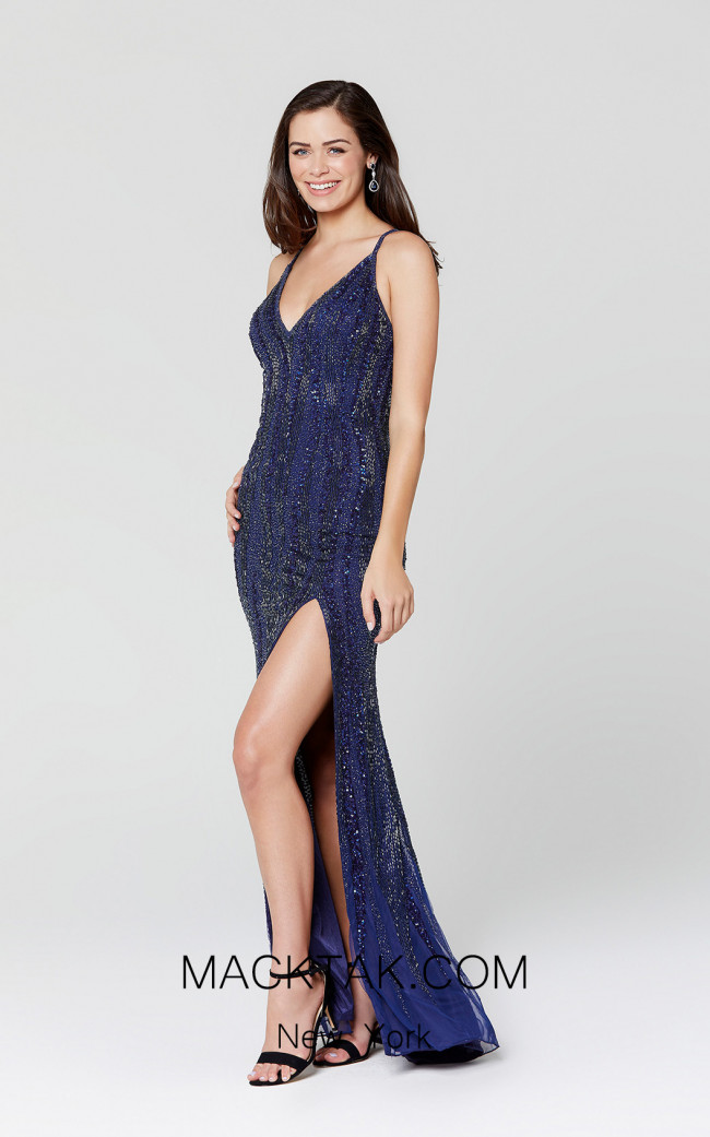 Primavera Couture 3424 Midnight Front Dress