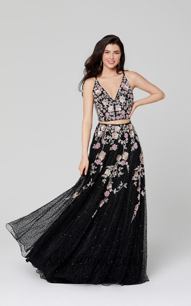 Primavera Couture 3431 Black Front Dress