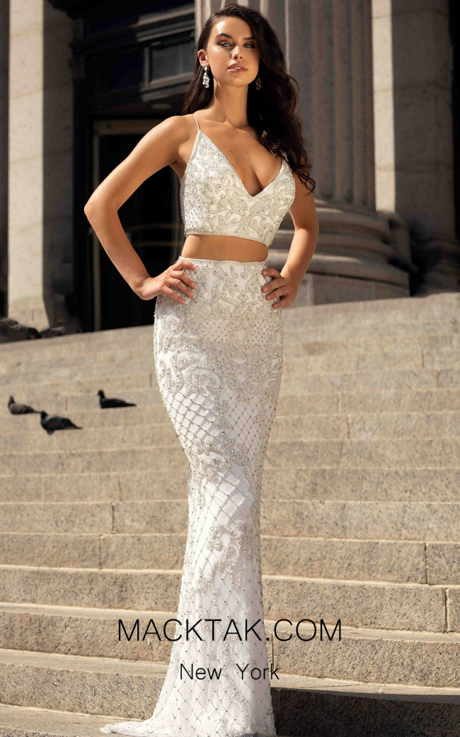 Primavera Couture 3439 Ivory Front Dress