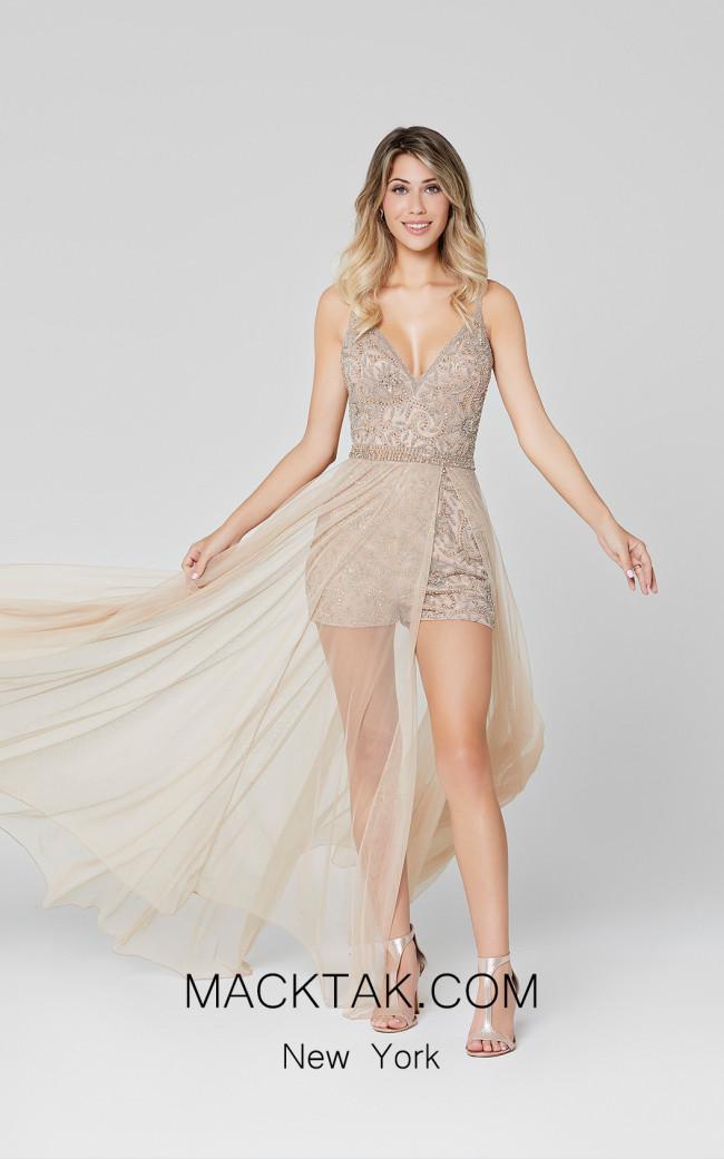 Primavera Couture 3443 Beige Front Dress