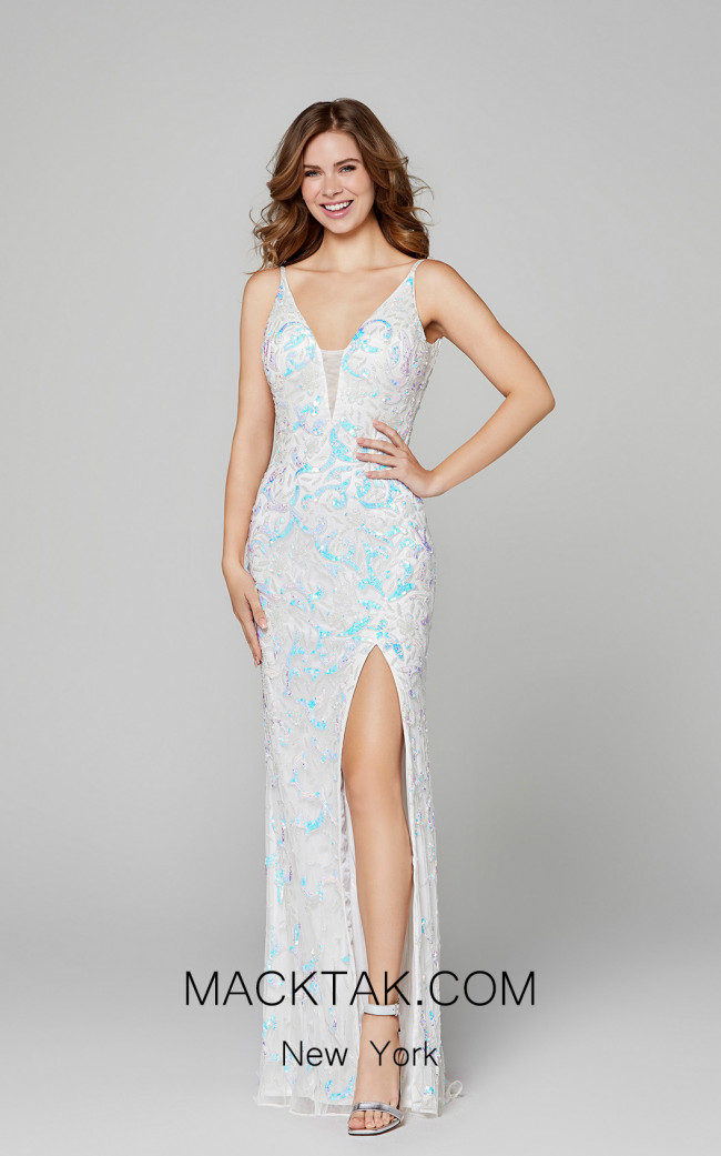Primavera Couture 3450 Ivory Front Dress