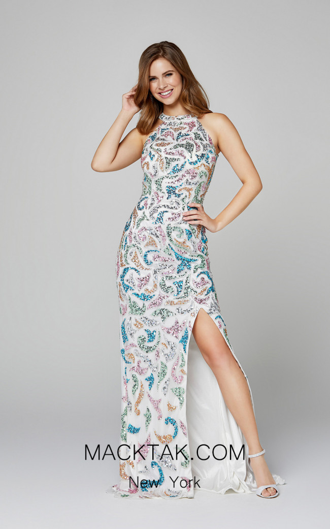 Primavera Couture 3452 Ivory Front Dress