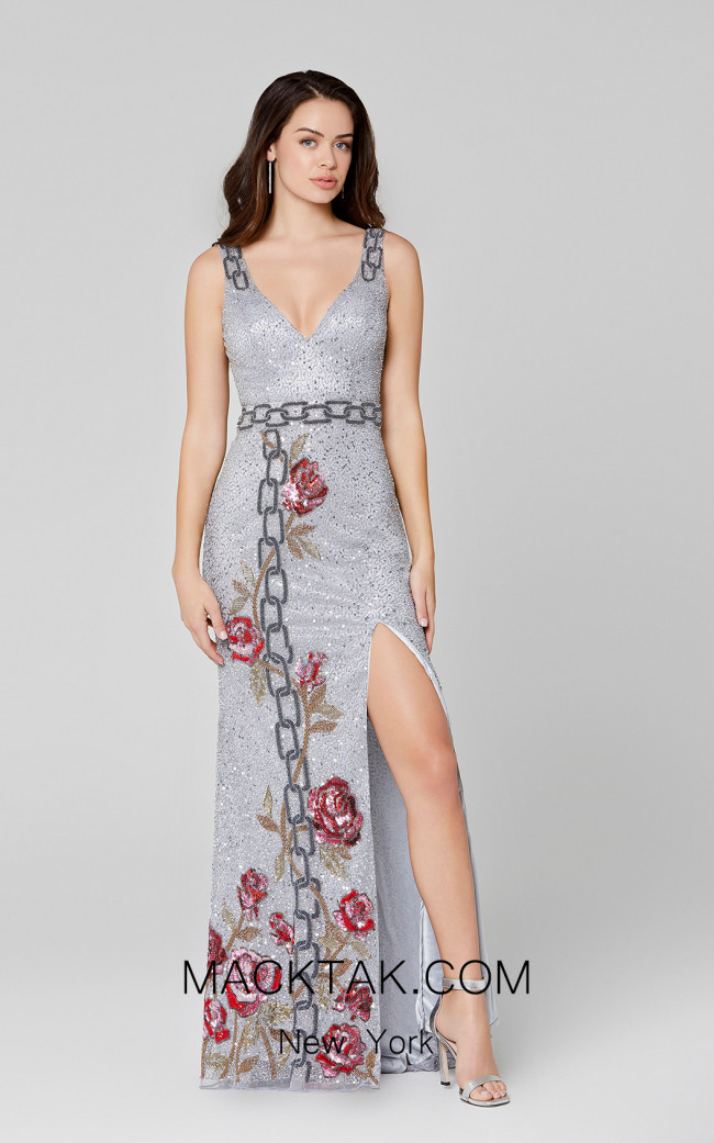 Primavera Couture 3453 Pewter Front Dress
