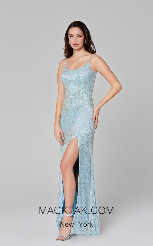 Primavera Couture 3457 Powder Blue Front Dress