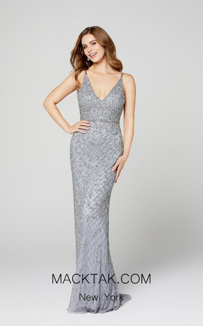 Primavera Couture 3458 Platinum Front Dress