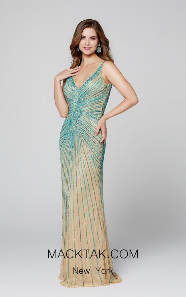 Primavera Couture 3459 Nude Multi Front Dress