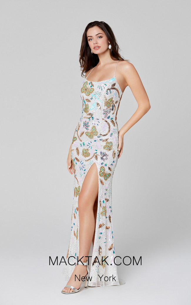 Primavera Couture 3460 Ivory Front Dress