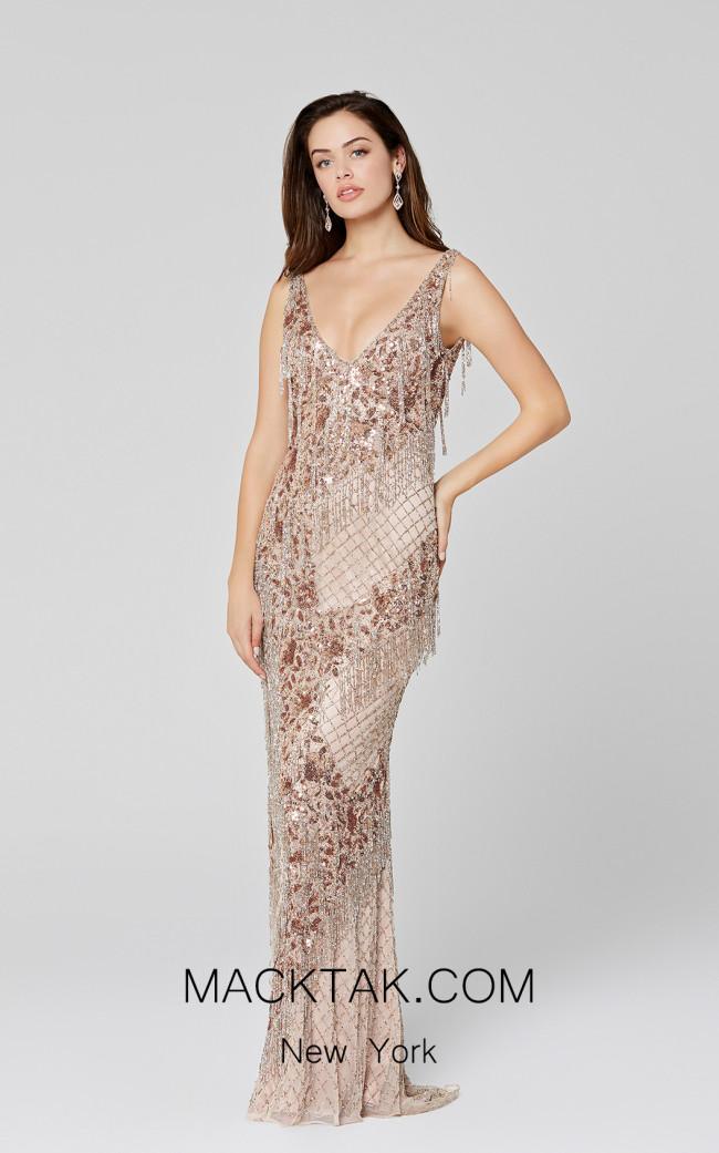 Primavera Couture 3467 Copper Front Dress