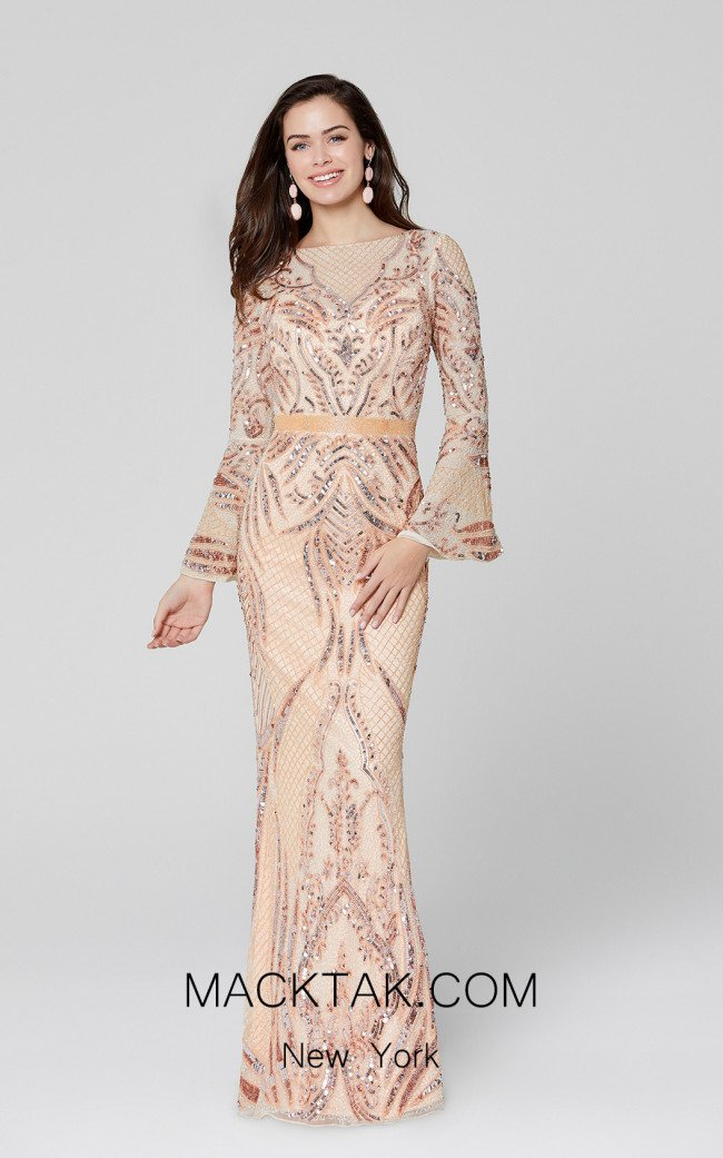 Primavera Couture 3485 Blush Front Dress
