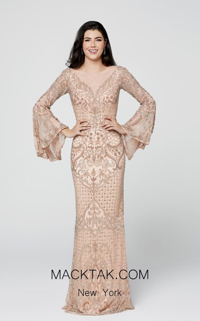Primavera Couture 3486 Blush Front Dress