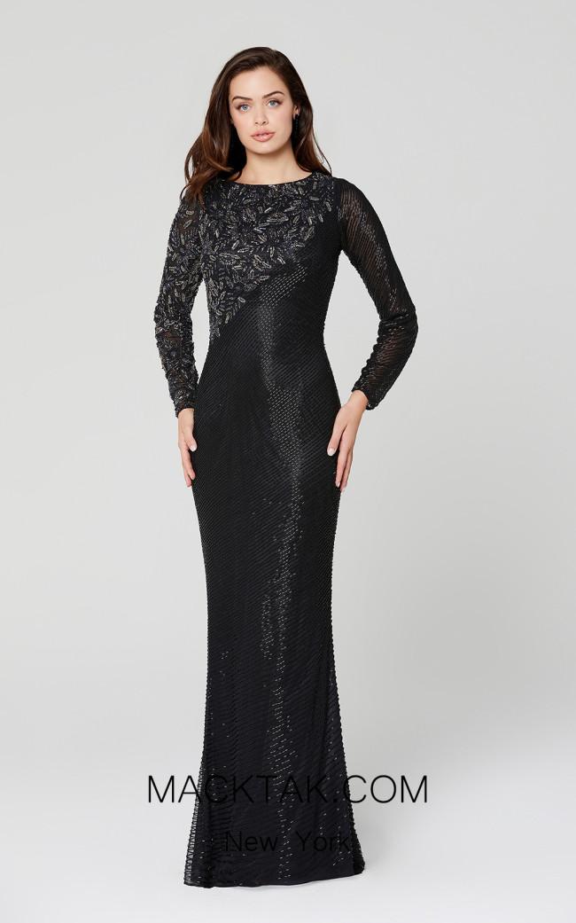 Primavera Couture 3488 Black Front Dress