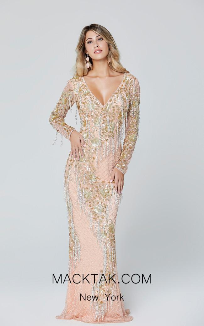 Primavera Couture 3491 Blush Front Dress