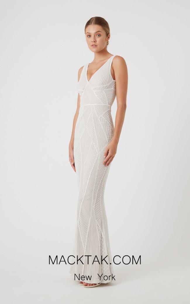 Rachel Gilbert RG60484 Ivory Front Evening Dress