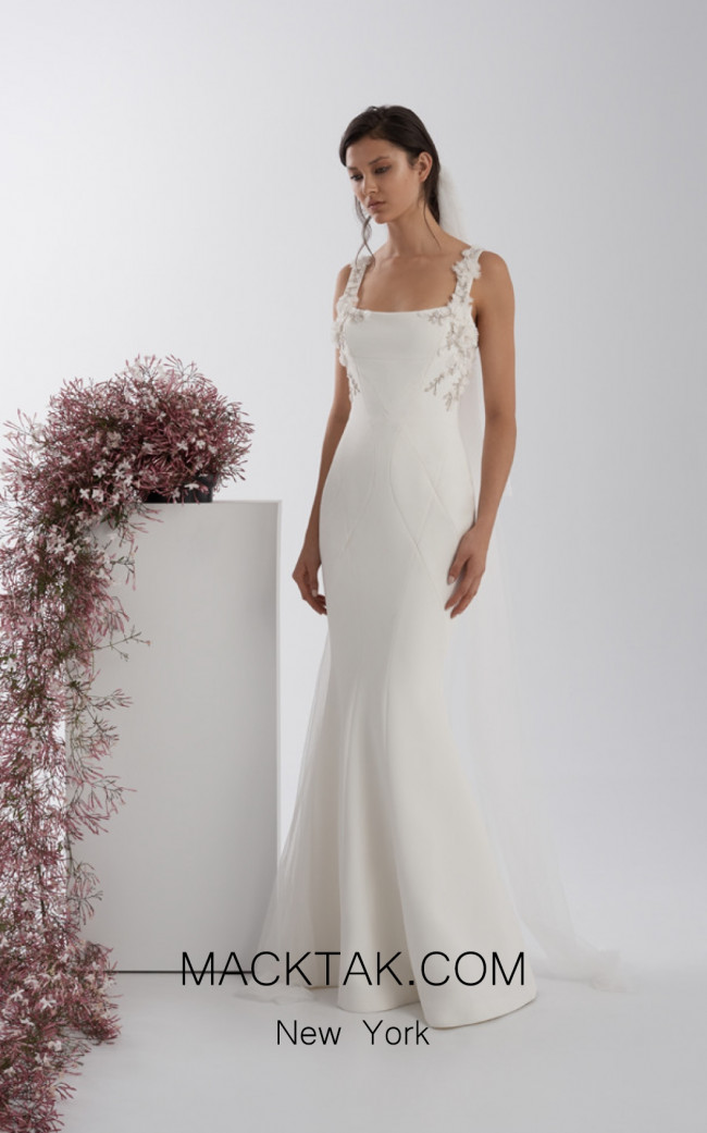 Rachel Gilbert RG60562 Ivory Front Evening Dress