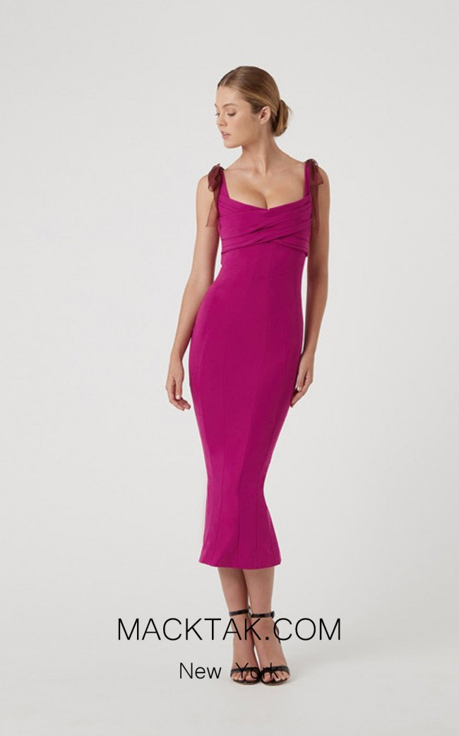 Rachel Gilbert RG60590 Magenta Front Evening Dress