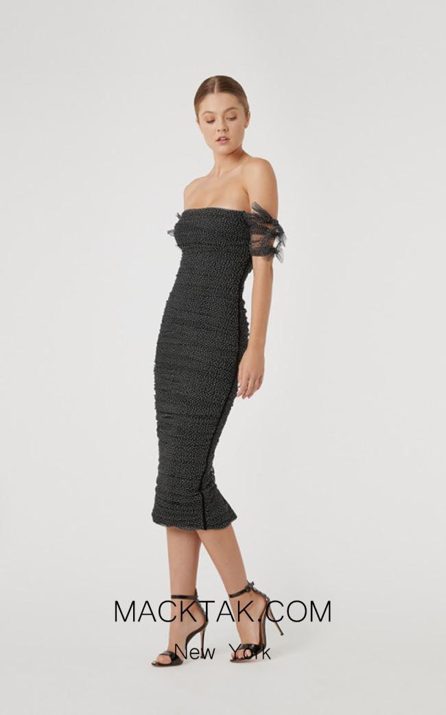 Rachel Gilbert RG60598 Black Front Evening Dress