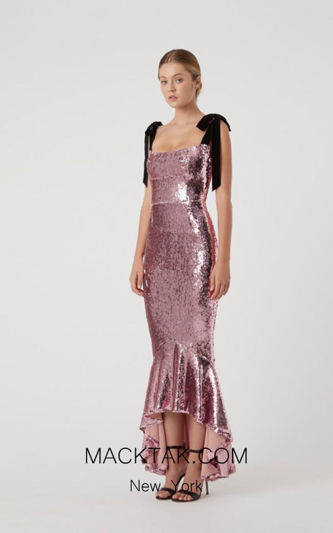 Rachel Gilbert RG60600 Salmon Front Evening Dress