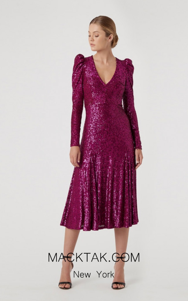 Rachel Gilbert RG60606 Magenta Front Evening Dress